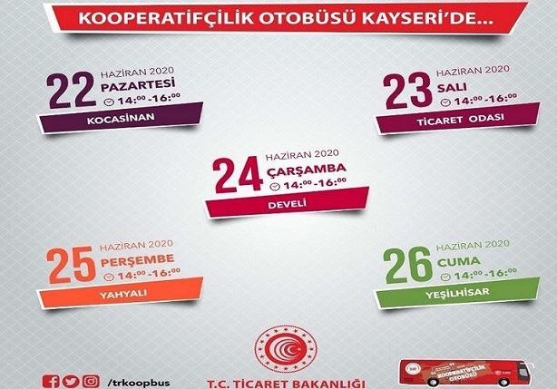 Kooperatifçilik Otobüsü Kayseri'de
