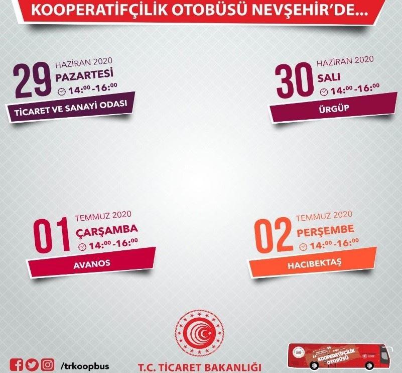 Kooperatifçilik Otobüsü Nevşehir'de İlçe Ziyaretlerine Devam Ediyor