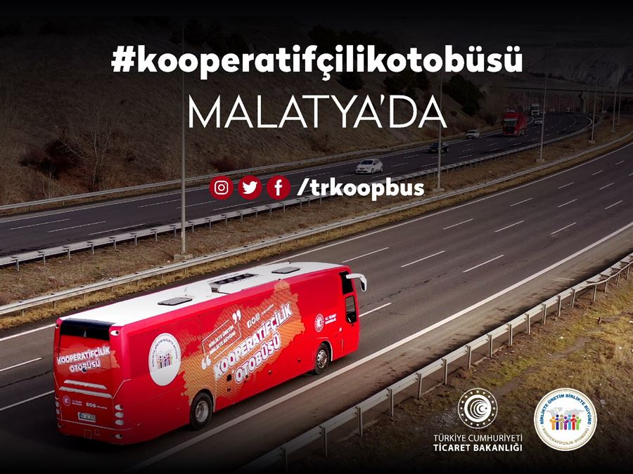 Kooperatifçilik Otobüsü Malatya'da İlçe Ziyaretlerini Tamamladı